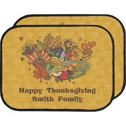 Happy Thanksgiving Car Floor Mats (Back Seat) (Personalized)
