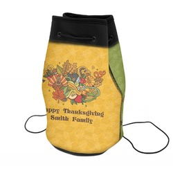 Happy Thanksgiving Neoprene Drawstring Backpack (Personalized)