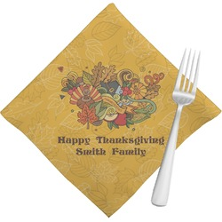 Happy Thanksgiving Napkins (Set of 4) (Personalized)