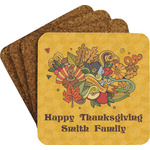 Happy Thanksgiving Coaster Set w/ Stand (Personalized)