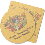 Happy Thanksgiving Rubber Backed Coaster (Personalized)