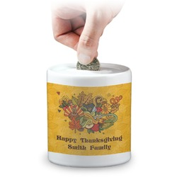 Happy Thanksgiving Coin Bank (Personalized)