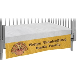 Happy Thanksgiving Crib Skirt (Personalized)