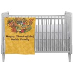 Happy Thanksgiving Crib Comforter / Quilt (Personalized)
