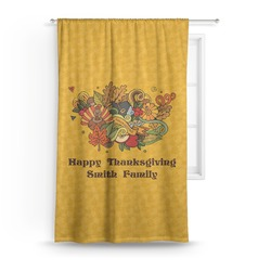 Happy Thanksgiving Curtain (Personalized)