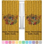 Happy Thanksgiving Curtains (2 Panels Per Set) (Personalized)