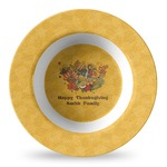 Happy Thanksgiving Plastic Bowl - Microwave Safe - Composite Polymer (Personalized)
