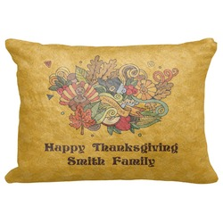 "Happy Thanksgiving Decorative Baby Pillowcase - 16""x12"" (Personalized)"