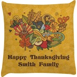 Happy Thanksgiving Decorative Pillow Case (Personalized)