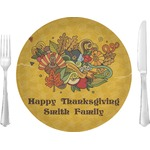 Happy Thanksgiving Glass Lunch / Dinner Plates 10
