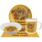 Happy Thanksgiving Dinner Set - 4 Pc (Personalized)