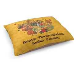 Happy Thanksgiving Dog Pillow Bed (Personalized)