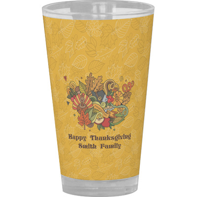 Happy Thanksgiving Drinking / Pint Glass (Personalized)