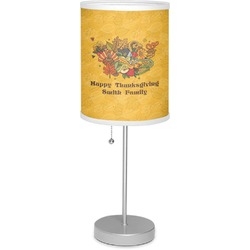 """Happy Thanksgiving 7"""" Drum Lamp with Shade (Personalized)"""