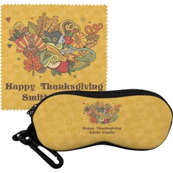Happy Thanksgiving Eyeglass Case & Cloth (Personalized)