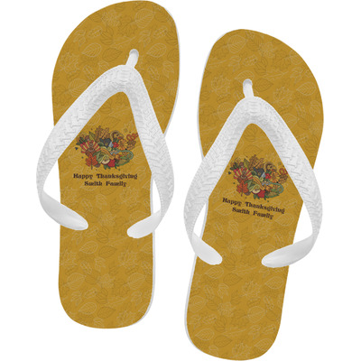 Happy Thanksgiving Flip Flops (Personalized)