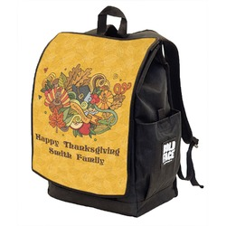 Happy Thanksgiving Backpack w/ Front Flap  (Personalized)
