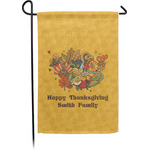 Happy Thanksgiving Garden Flag - Single or Double Sided (Personalized)