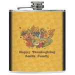 Happy Thanksgiving Genuine Leather Flask (Personalized)