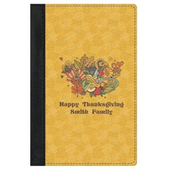Happy Thanksgiving Genuine Leather Passport Cover (Personalized)