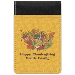 Happy Thanksgiving Genuine Leather Small Memo Pad (Personalized)