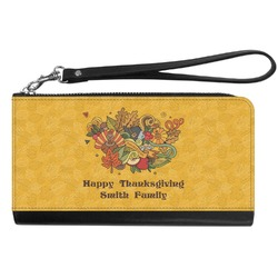 Happy Thanksgiving Genuine Leather Smartphone Wrist Wallet (Personalized)
