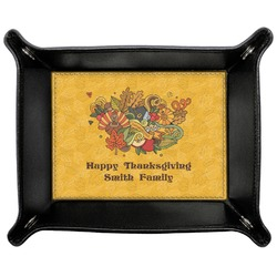 Happy Thanksgiving Genuine Leather Valet Tray (Personalized)