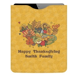 Happy Thanksgiving Genuine Leather iPad Sleeve (Personalized)