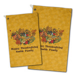 Happy Thanksgiving Golf Towel - Full Print w/ Name or Text