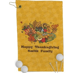 Happy Thanksgiving Golf Towel - Full Print (Personalized)