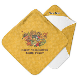 Happy Thanksgiving Hooded Baby Towel (Personalized)