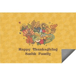 Happy Thanksgiving Indoor / Outdoor Rug (Personalized)