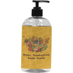 Happy Thanksgiving Plastic Soap / Lotion Dispenser (Personalized)