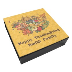 Happy Thanksgiving Leatherette Keepsake Box - 3 Sizes (Personalized)