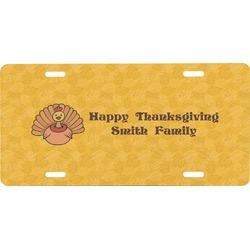 Happy Thanksgiving Front License Plate (Personalized)