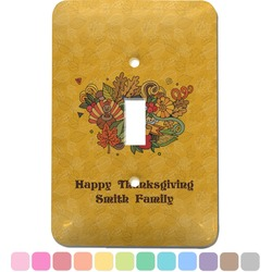 Happy Thanksgiving Light Switch Cover (Single Toggle) (Personalized)