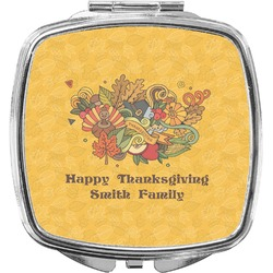 Happy Thanksgiving Compact Makeup Mirror (Personalized)