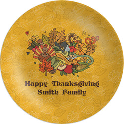 """Happy Thanksgiving Melamine Plate - 8"""" (Personalized)"""