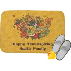 Happy Thanksgiving Memory Foam Bath Mat (Personalized)