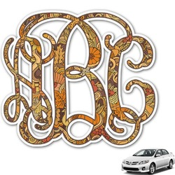 Happy Thanksgiving Monogram Car Decal (Personalized)