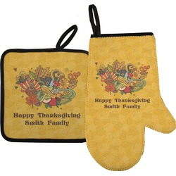 Happy Thanksgiving Oven Mitt & Pot Holder (Personalized)