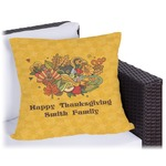 Happy Thanksgiving Outdoor Pillow (Personalized)
