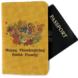 Happy Thanksgiving Passport Holder - Fabric (Personalized)