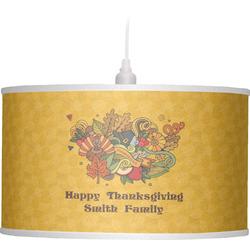 Happy Thanksgiving Drum Pendant Lamp (Personalized)