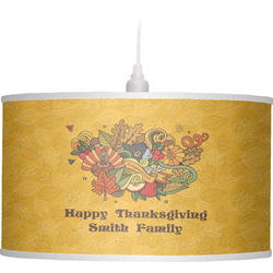 Happy Thanksgiving Drum Pendant Lamp (Personalized)