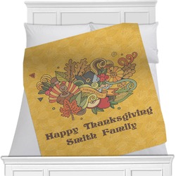 Happy Thanksgiving Minky Blanket (Personalized)