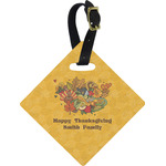 Happy Thanksgiving Diamond Luggage Tag (Personalized)