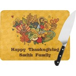 Happy Thanksgiving Rectangular Glass Cutting Board (Personalized)