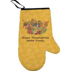 Happy Thanksgiving Right Oven Mitt (Personalized)