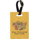 Happy Thanksgiving Rectangular Luggage Tag (Personalized)